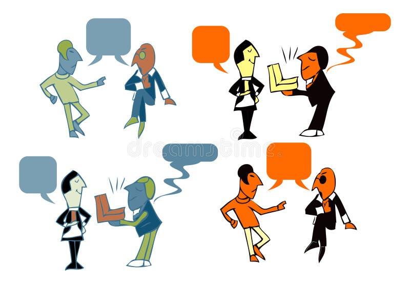 Mens, vergadering, bespreking, zaken vector illustratie