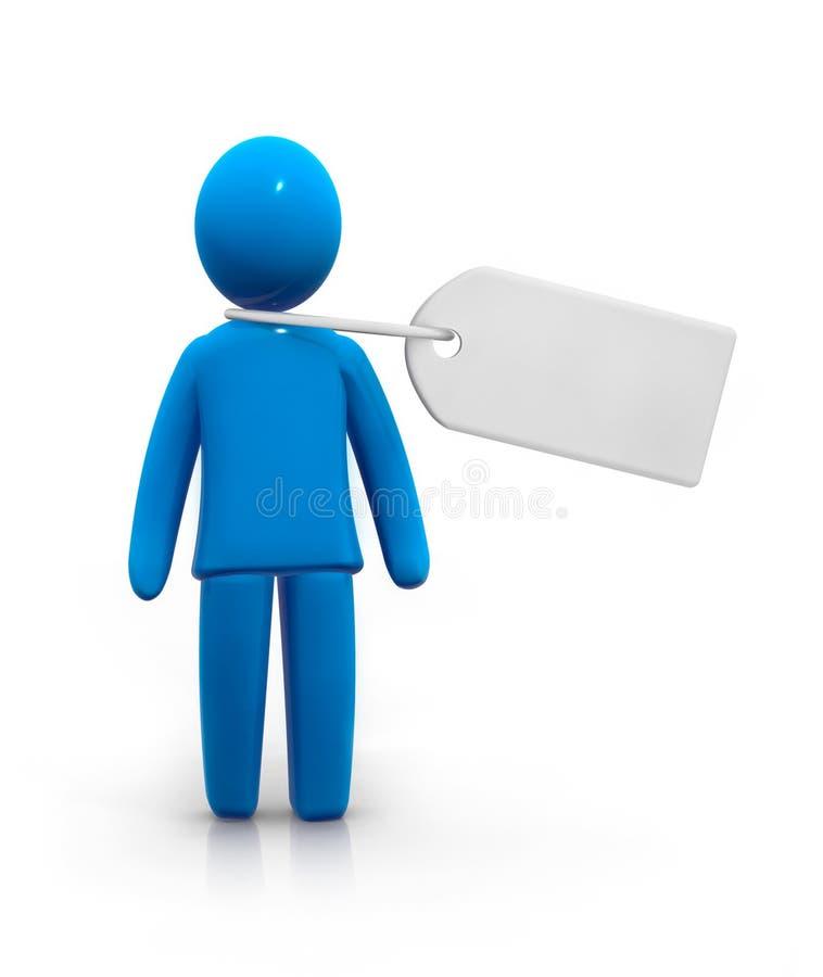 Mens voor verkoop vector illustratie