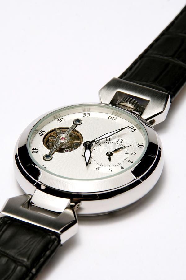 Mens wristwatch royalty free stock image