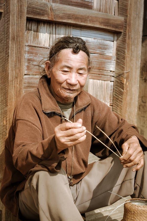 Mens in Ziro in Arunachal Pradesh royalty-vrije stock afbeeldingen