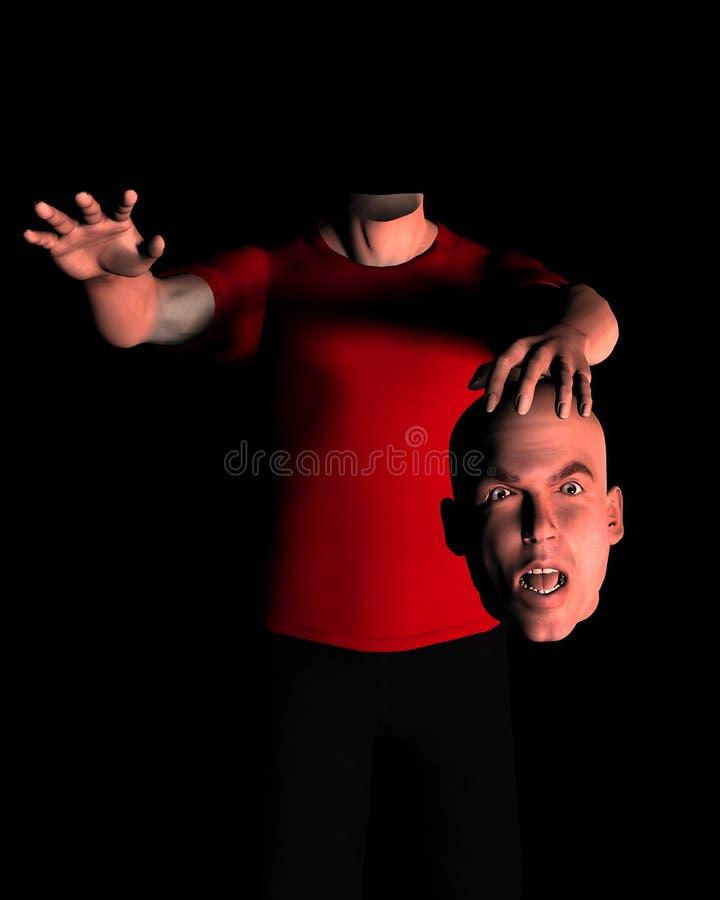 Mens zonder hoofd 16 vector illustratie