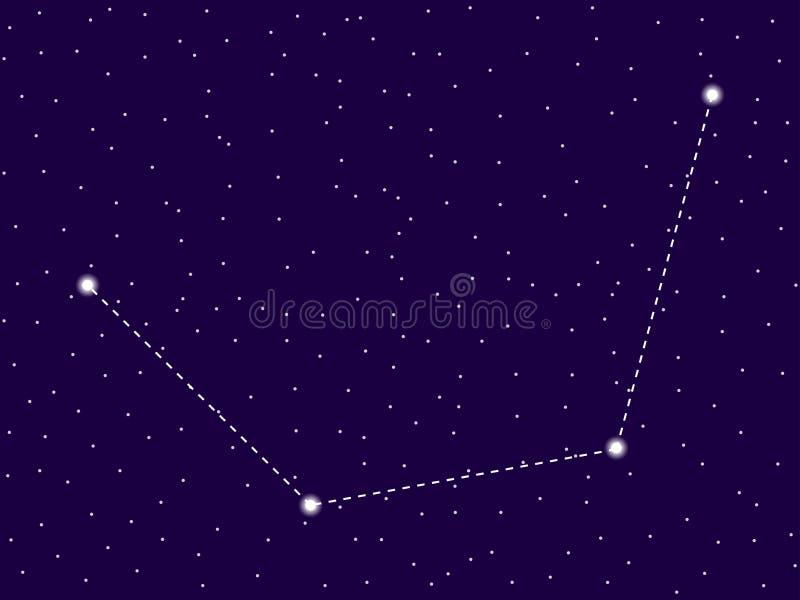 Mensa konstellation starry nattsky zodiac f?r symboler tolv f?r illustrationsdesigntecken olik Klunga av stjärnor och galaxer Dju stock illustrationer