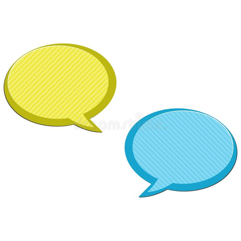 A mensagem borbulha ícone, ícone do bate-papo, ícone simples do diálogo ilustração royalty free