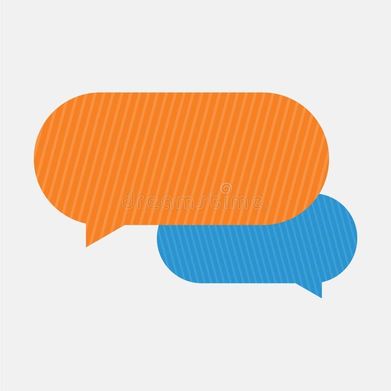 A mensagem borbulha ícone, ícone do bate-papo, ícone simples do diálogo ilustração do vetor