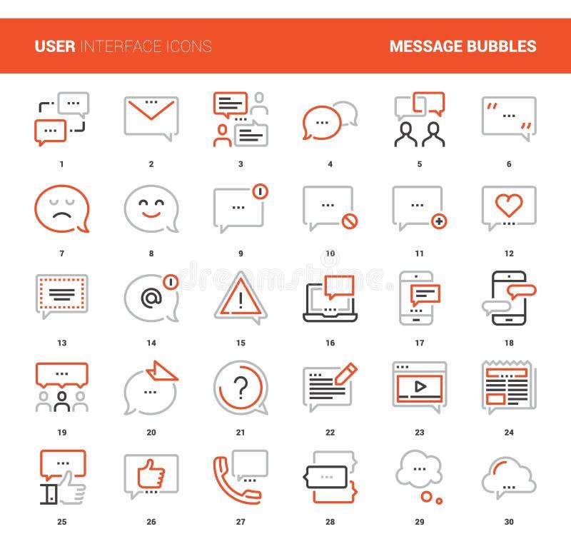 A mensagem borbulha ícones ilustração do vetor