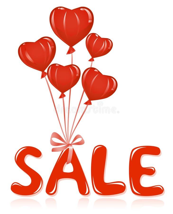 Mensagem da venda com balões. ilustração do vetor