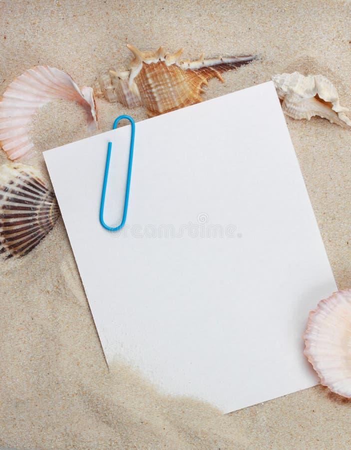 Mensagem das férias foto de stock royalty free
