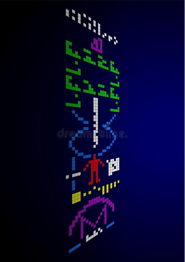 A mensagem de Arecibo envia ao espaço ilustração do vetor