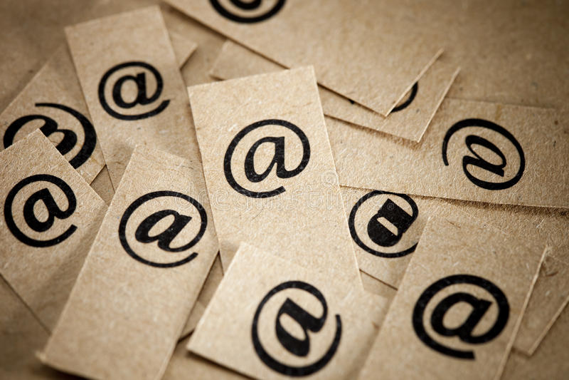 Mensagem de correio electrónico fotos de stock