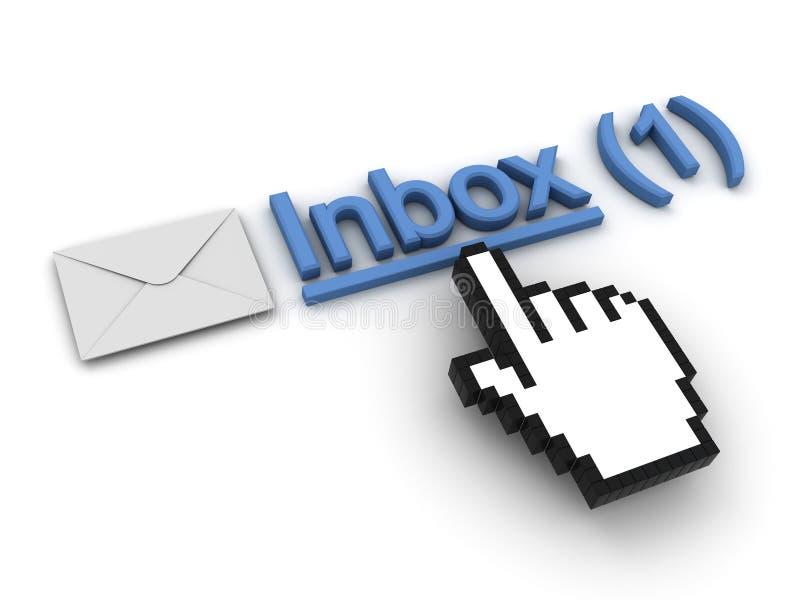 Mensagem de correio electrónico novo no inbox ilustração do vetor