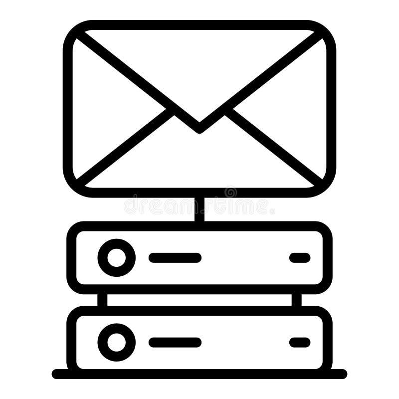 Mensagem de hospedar o ícone, estilo do esboço ilustração stock