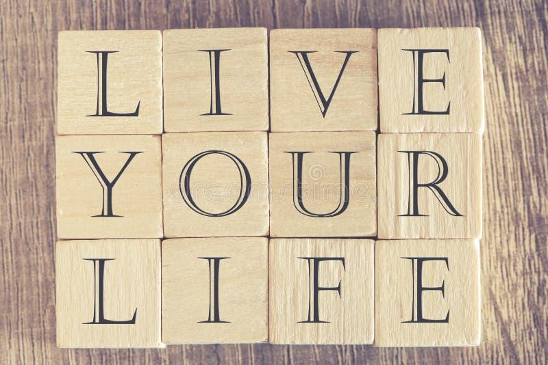 Mensagem de Live Your Life fotos de stock