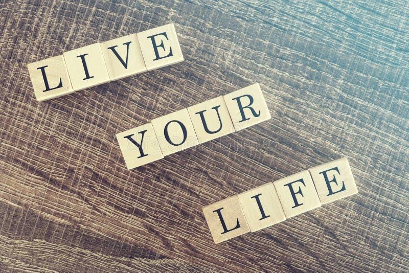 Mensagem de Live Your Life fotos de stock royalty free