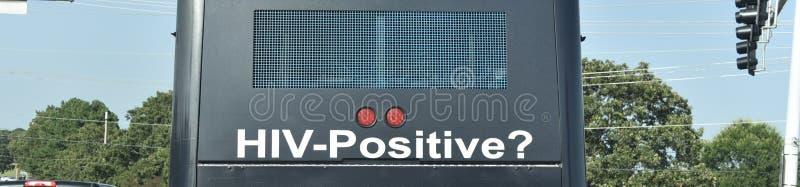 Mensagem de Serviço Público de Consciência do HIV imagens de stock