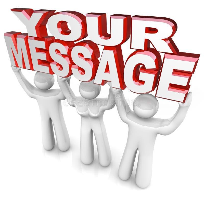 A mensagem de Team People Lift Words Your que anuncia o Special anuncia ilustração royalty free