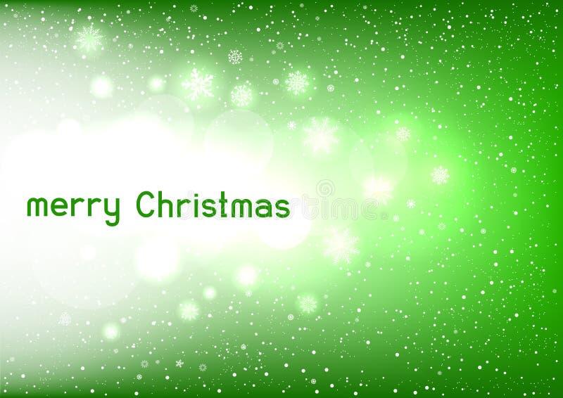 Mensagem de texto verde mágica do Natal ilustração do vetor