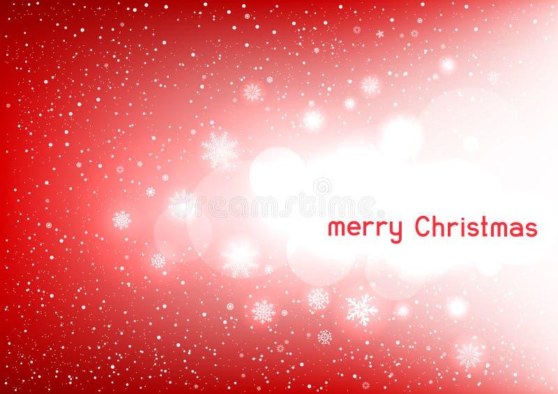 Mensagem de texto vermelha mágica do Natal ilustração stock