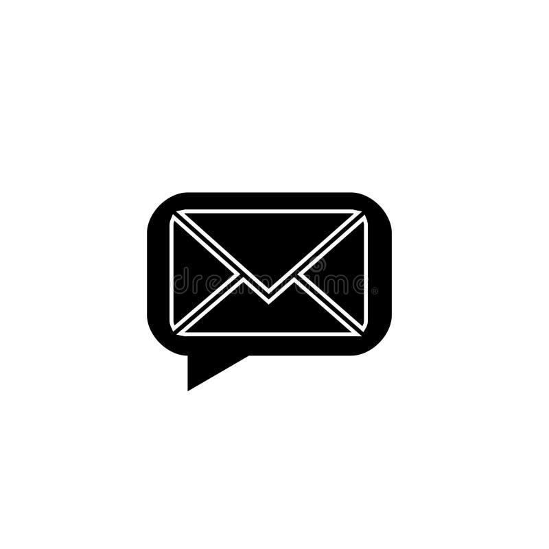 Mensagem de vetor de logotipo do Ícone de Email ilustração royalty free