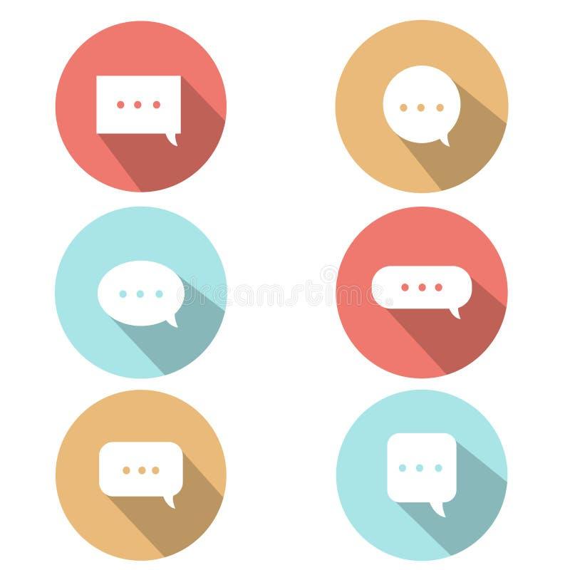 Mensagem do ícone fotos de stock