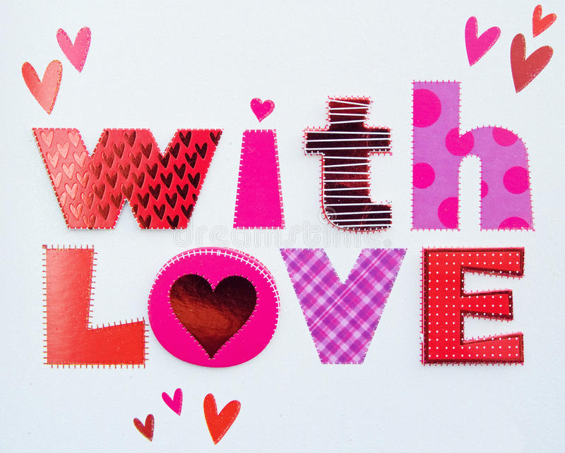 Mensagem do amor. fotografia de stock