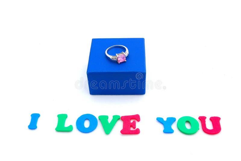 Mensagem do amor imagens de stock royalty free