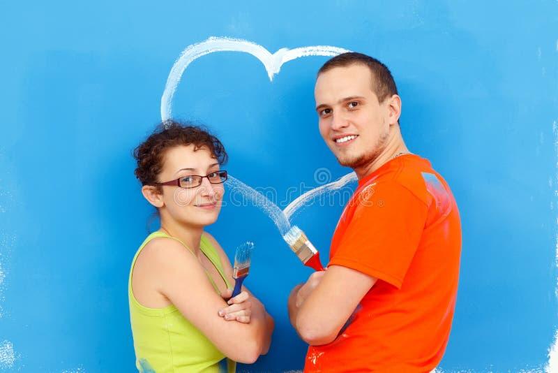 Mensagem do amor na parede imagem de stock royalty free