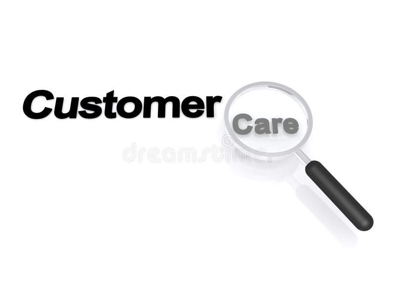 Mensagem do cuidado do cliente ilustração stock