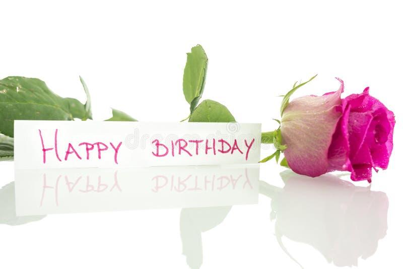 Mensagem do feliz aniversario fotografia de stock royalty free