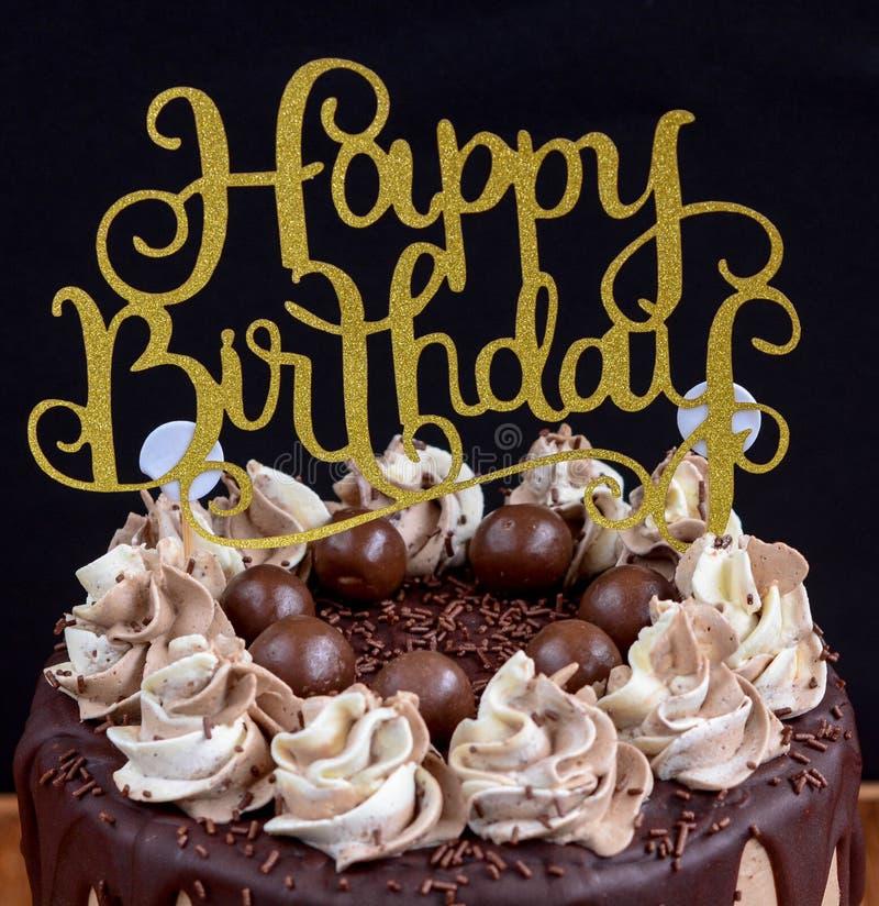 Mensagem do feliz aniversario imagens de stock