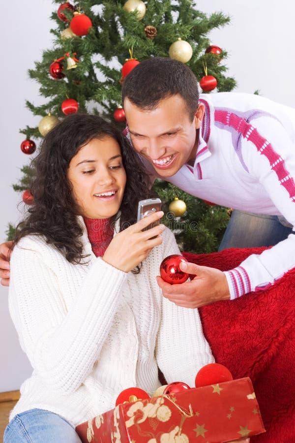 Mensagem do Natal imagem de stock royalty free