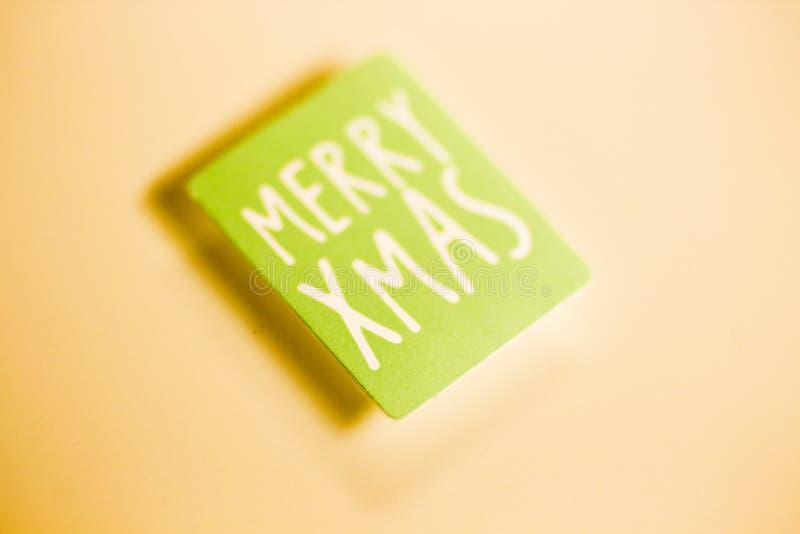 Mensagem dos cumprimentos do Feliz Natal foto de stock royalty free