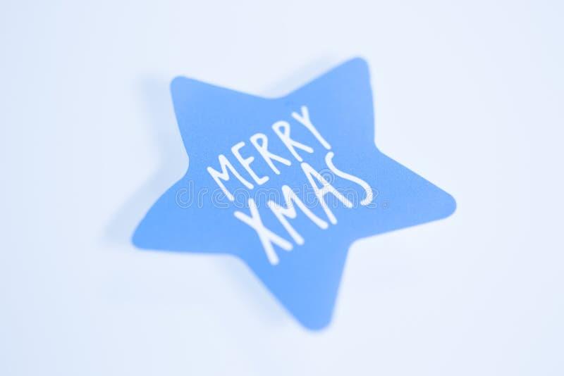 Mensagem dos cumprimentos do Feliz Natal imagem de stock