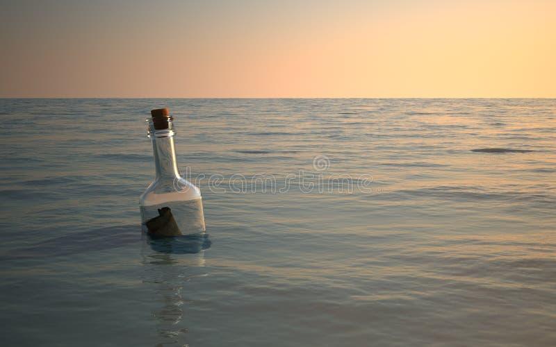 Mensagem em um frasco foto de stock