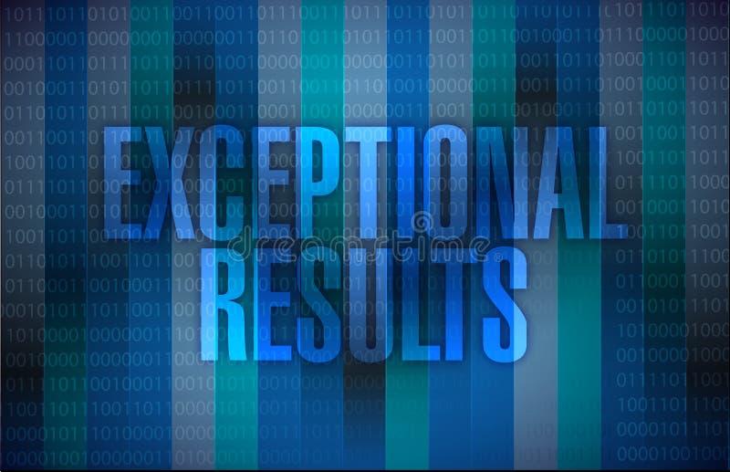 Mensagem excepcional dos resultados sobre um binário ilustração stock