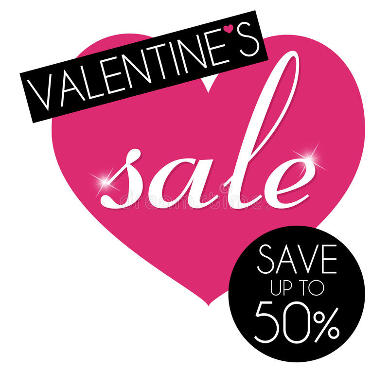 Mensagem/fundo da venda do Valentim ilustração stock