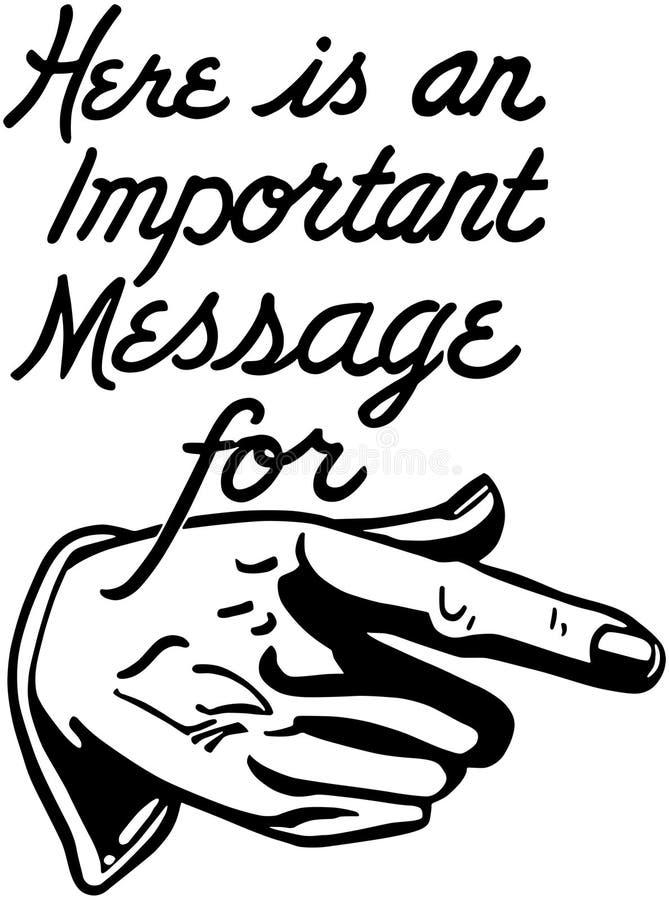 Mensagem importante ilustração stock