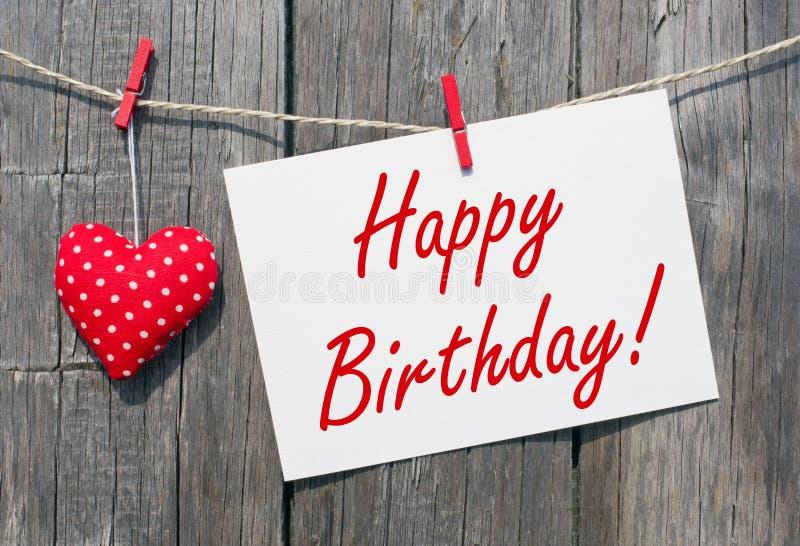 Mensagem rústica do feliz aniversario imagem de stock royalty free