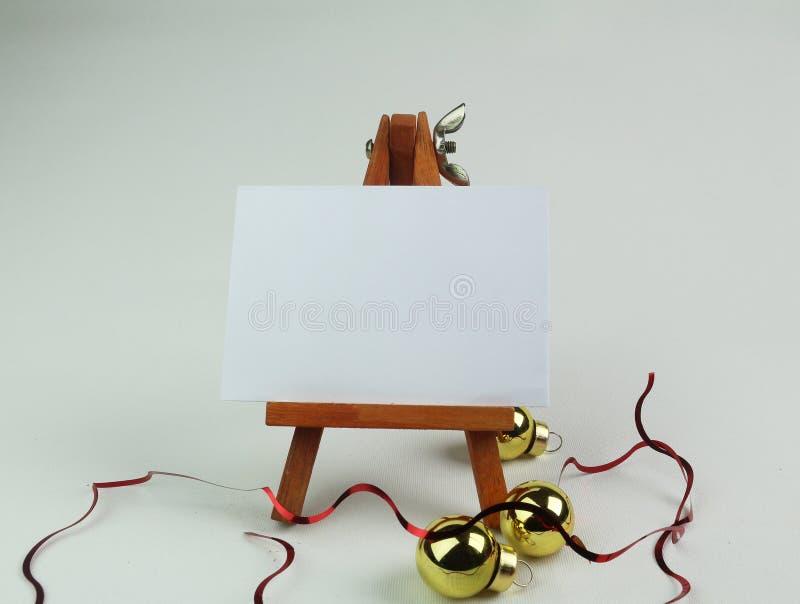 Mensagem vazia do Natal foto de stock royalty free