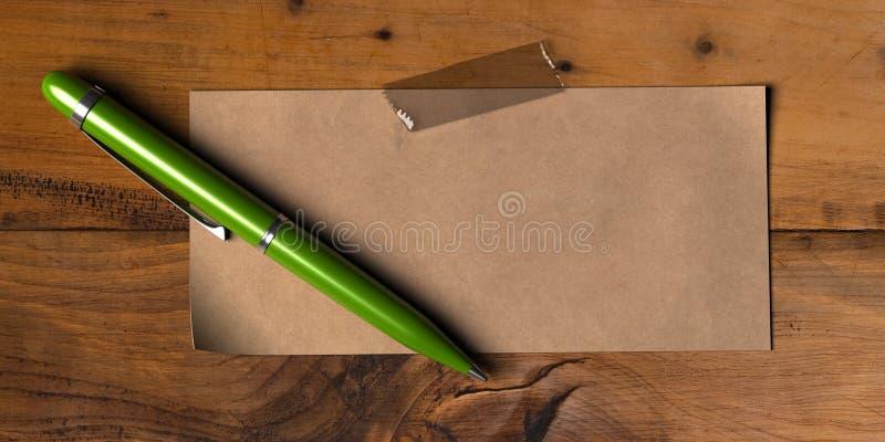 Mensagem verde ilustração stock