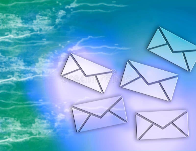 Mensagens de correio electrónico do Internet ilustração stock