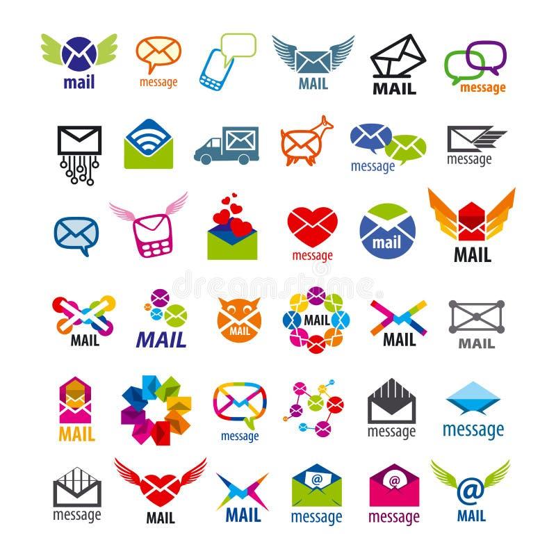 Mensagens do correio dos logotipos do vetor ilustração royalty free