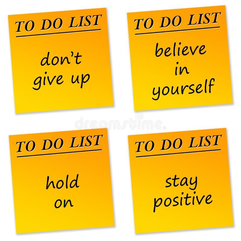 Mensagens positivas ilustração stock