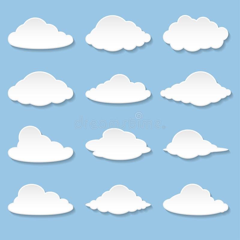 Mensagens sob a forma das nuvens ilustração do vetor
