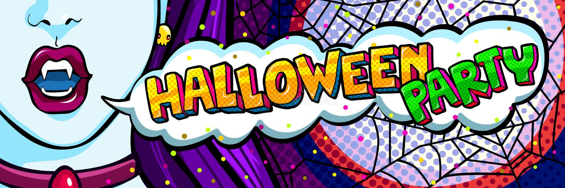 Mensaje boca y del partido abiertos de Halloween libre illustration