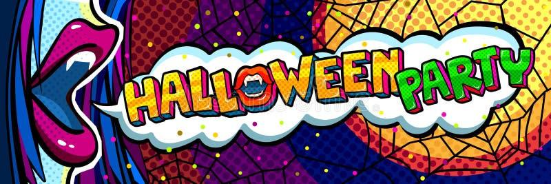 Mensaje boca y del partido abiertos de Halloween ilustración del vector