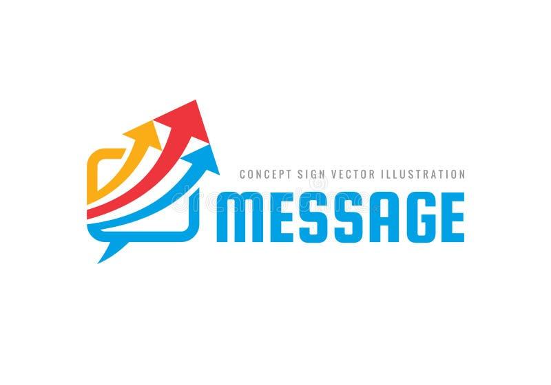 Mensaje - burbujas del discurso con el ejemplo del concepto de la plantilla del logotipo del negocio del vector de las flechas Ic libre illustration