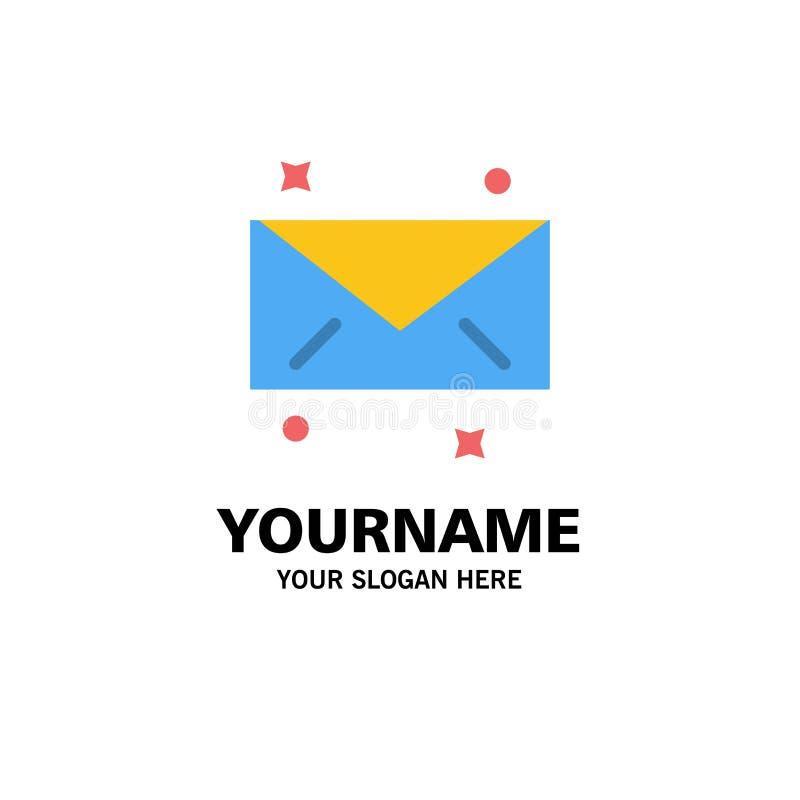 Mensaje, correo, negocio Logo Template del correo electrónico color plano ilustración del vector