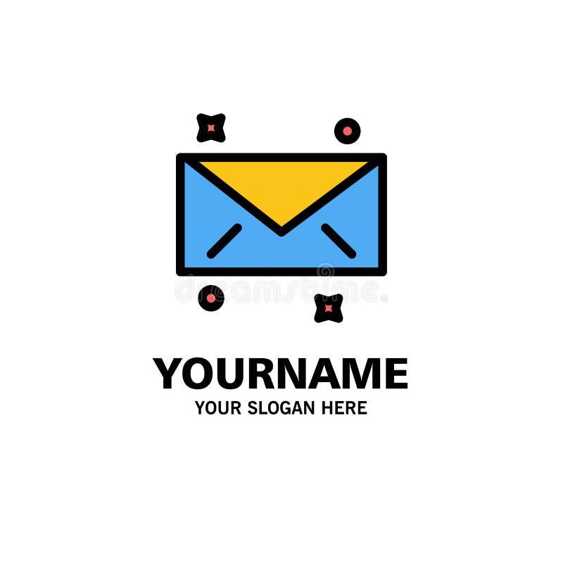 Mensaje, correo, negocio Logo Template del correo electrónico color plano libre illustration