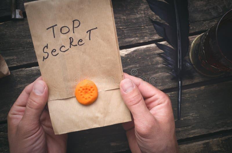 Mensaje de alto secreto fotos de archivo libres de regalías