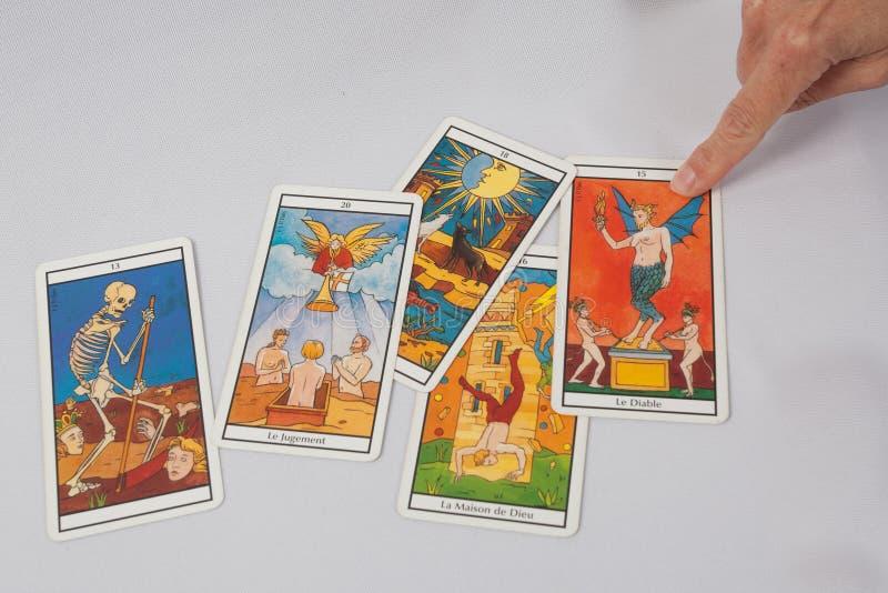 Mensaje de la carta de tarot fotos de archivo libres de regalías